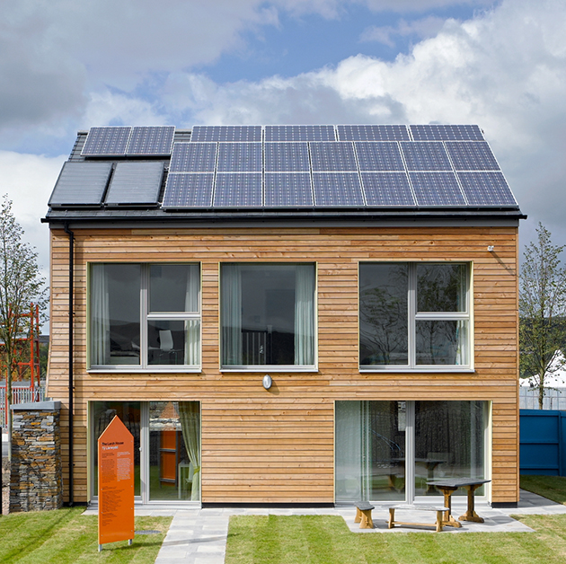 Casa Pasiva en Bremen, Alemania. Christoph Schulte, arquitecto. Un ejemplo de casa solar certificada como de consumo energético cero.