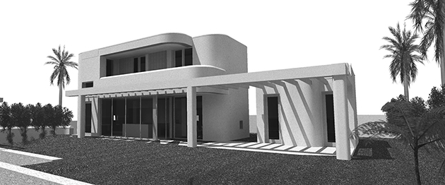 Imagen del proyecto para casa pasiva en Granadilla. TH Arquitectos, 2014